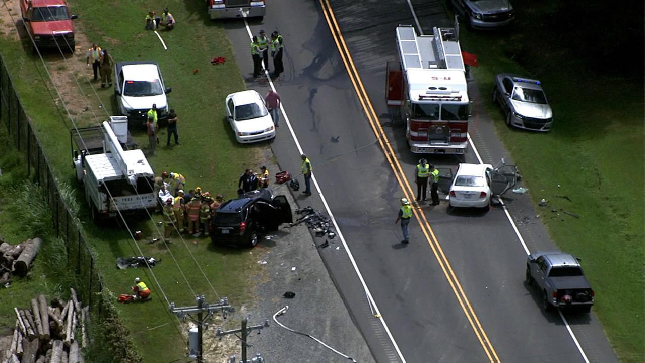 Cars smash head-on in Orange County north of Hillsborough