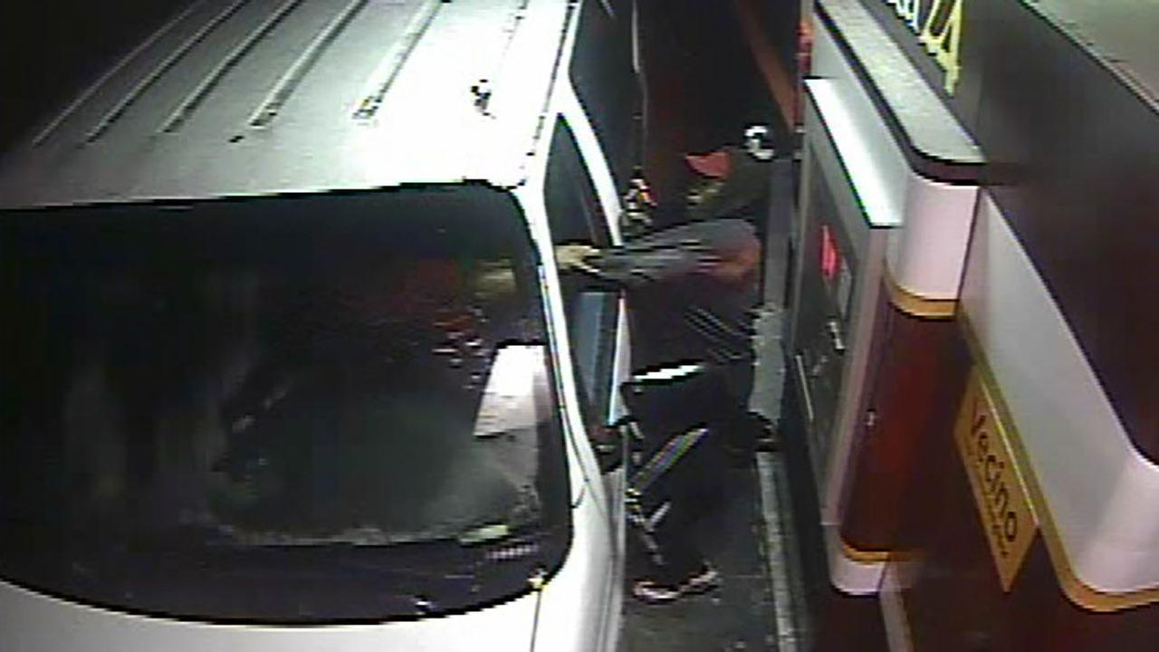 Surveillance image of the robbery.
