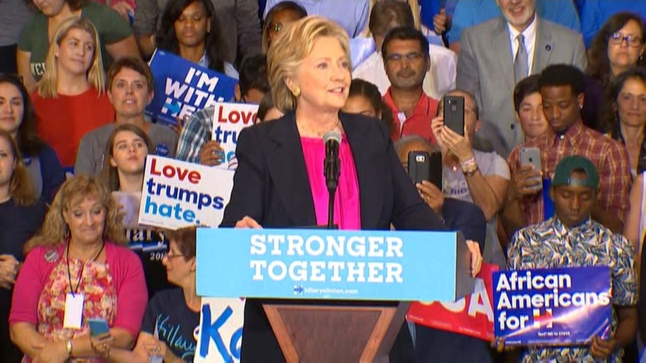 Hillary Clinton campaigns in Raleigh the day after her first debate with Donald Trump.