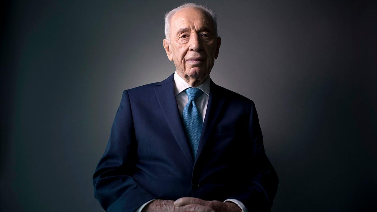 Israels former President Shimon Peres poses for a portrait at the Peres Center for Peace in Jaffa, Israel on Feb. 8, 2016.