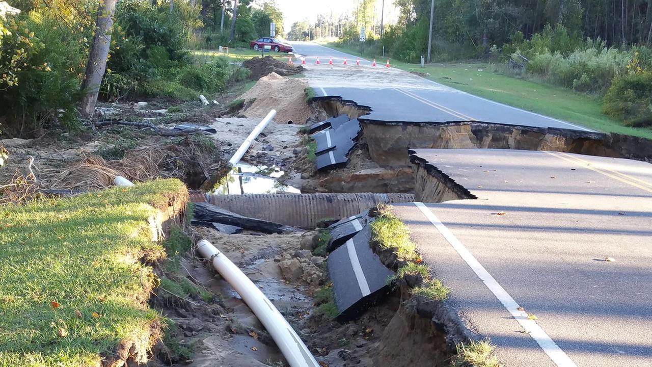 Rennert Rd near rex-rennert school. Water main burst and road washed out.Christopher Hammonds