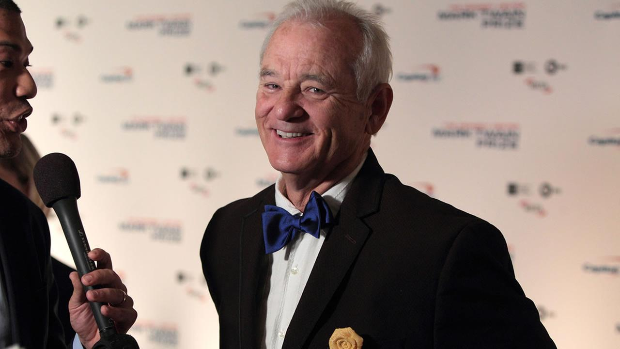 Bill Murray arrives at the Kennedy Center for the Performing Arts for the 19th Annual Mark Twain Prize for American Humor (Owen Sweeney/Invision/AP)