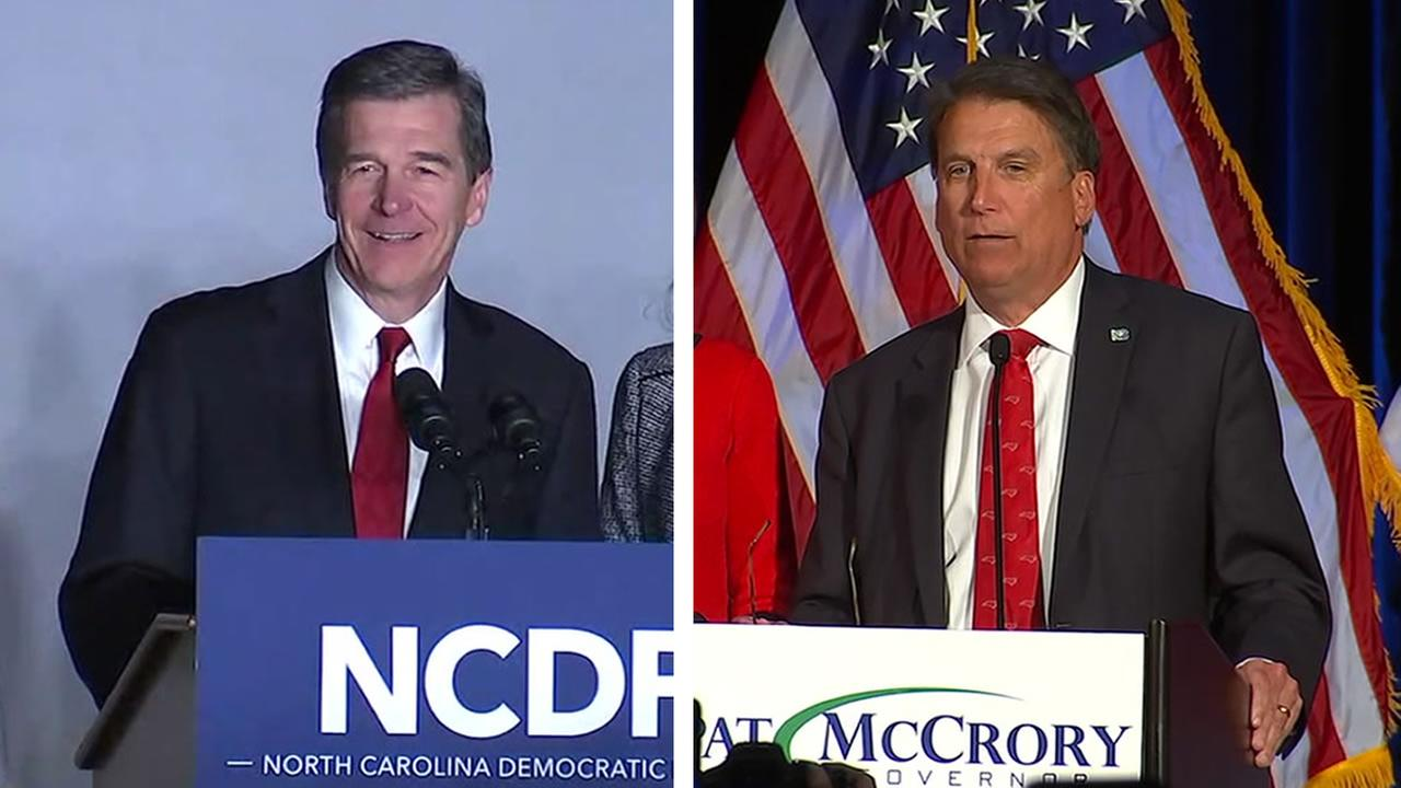 Roy Cooper and Pat McCrory