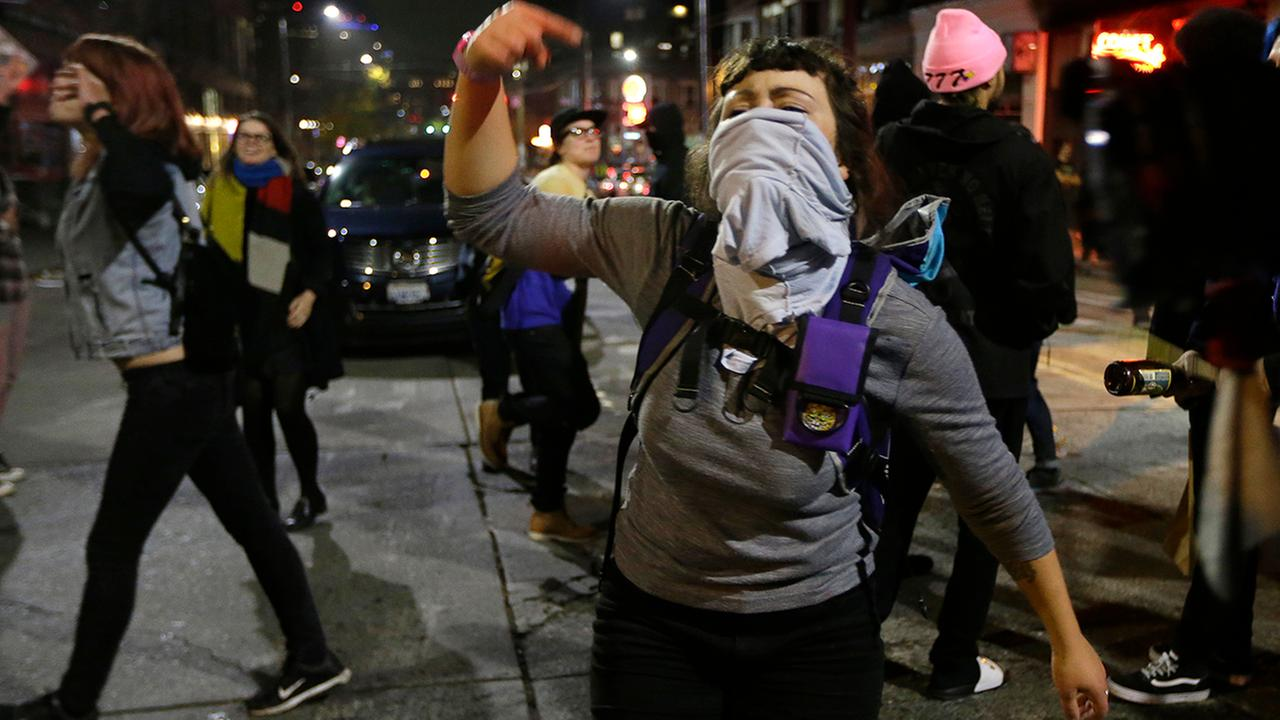 Image result for photos of protest over trump win