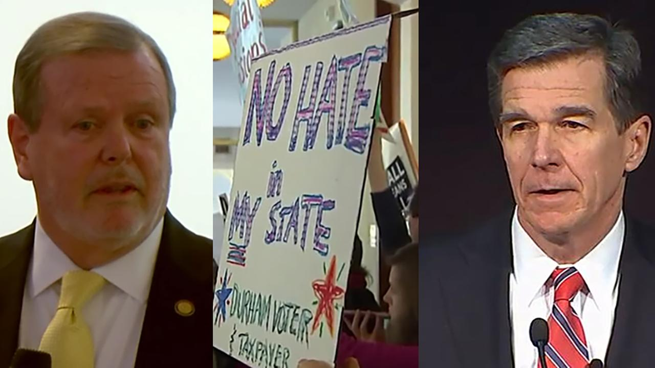 Phil Berger, left, and Roy Cooper both  had strong words on Wednesday.
