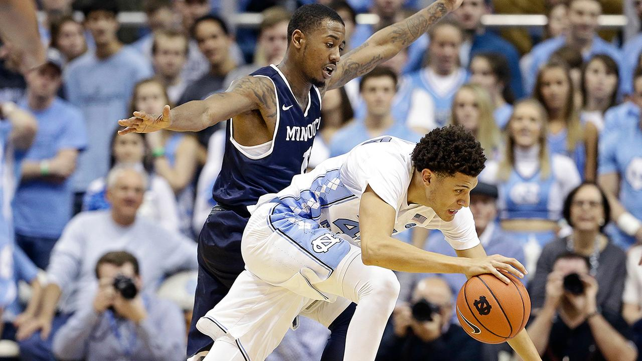 Justin Jackson scored 28 points to pace the Tar Heels.