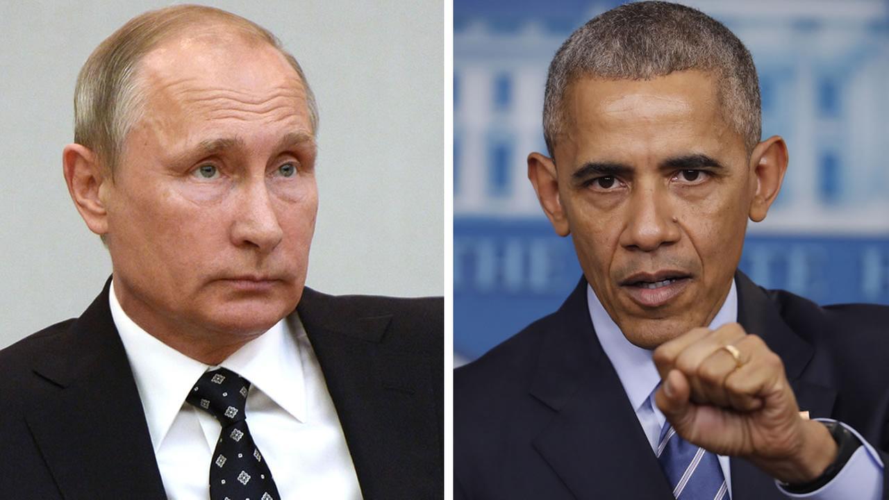 Russian president Vladimir Putin and President Barack Obama (AP images/Alexei Nikolsky and Pablo Martinez Monsivais)