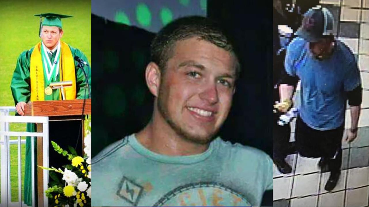 From left, a Cole Thomas graduation photo, a recent photo of Cole Thomas, and a Nov. 24, 2016 image from a convenience store surveillance camera.