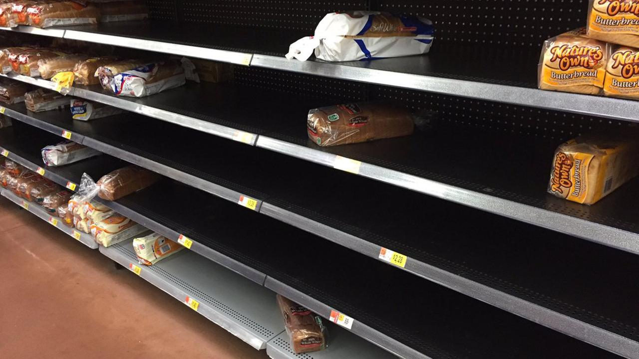 The bread aisle at Walmart in Zebulon on Thursday afternoon.Bob Zimny/ABC11 Eyewitness