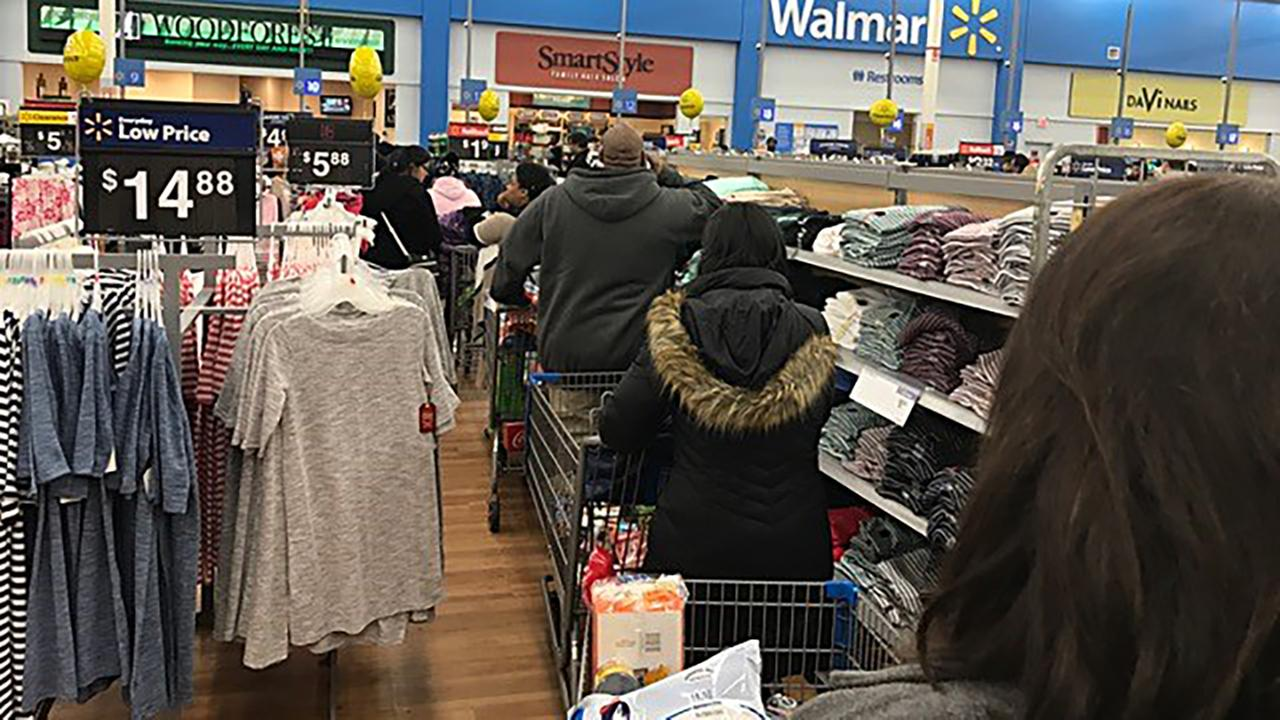 Long lines at Walmart. on NC 54 in Morrisville.Charlie Mickens