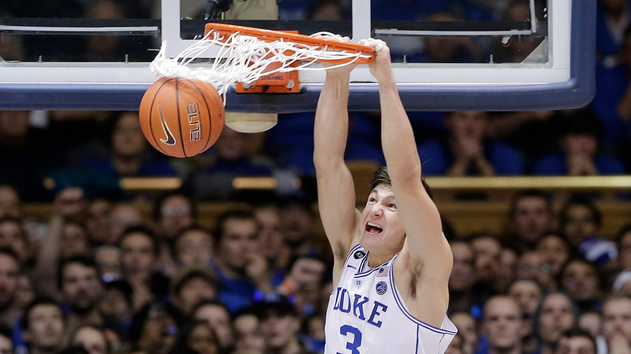Grayson Allen had a big dunk late in the game to help fuel the Blue Devils eighth win in the last 11 games against the Tar Heels.