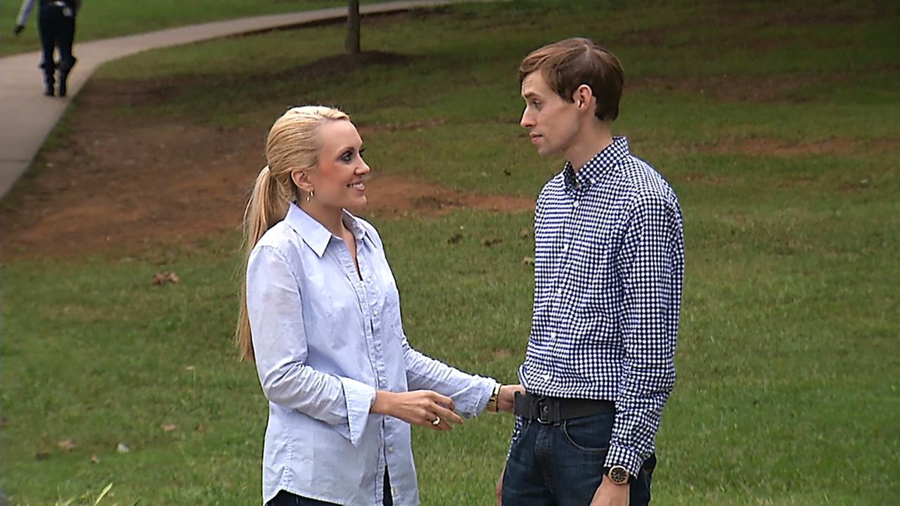 This Oct. 1, 2015, image shows Amanda and Liam Guy in Charlotte. Liam, 29, an accountant fled in 2015 after nearly 25 years in the Word of Faith Fellowship church.