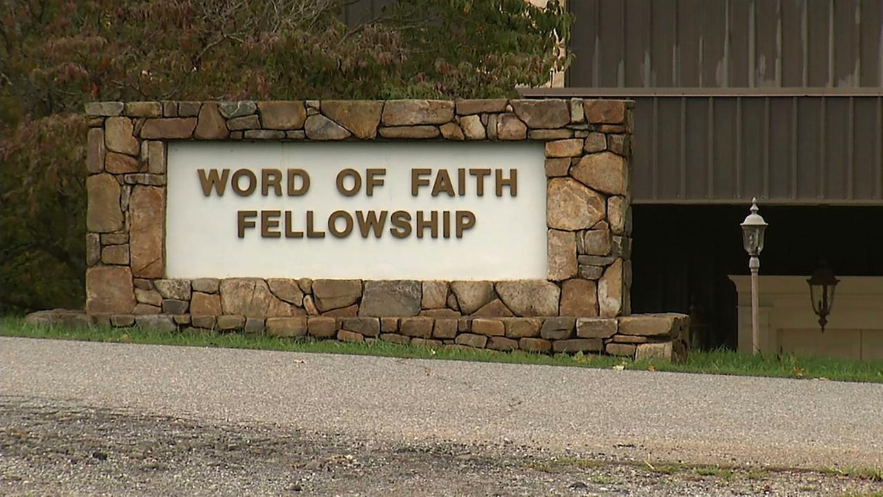 The entrance to the Word of Faith Fellowship church in Spindale, N.C., seen in 2016