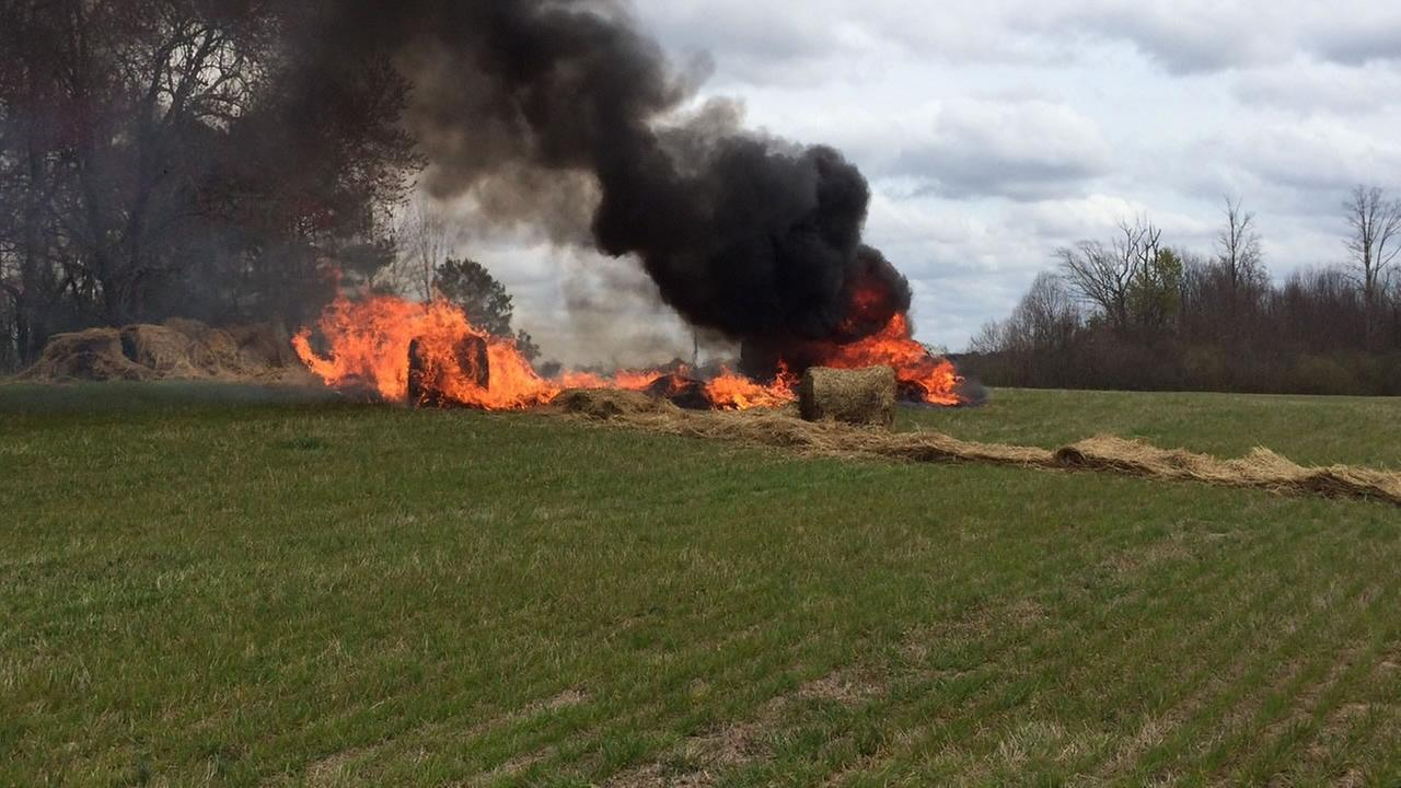 The SUV caught fire (image courtesy Nash County Sheriffs Office)