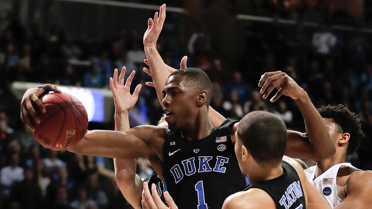 Duke freshman Harry Giles contributed seven rebounds and four blocks off the bench in the ACC Tournament win against the Tar Heels.