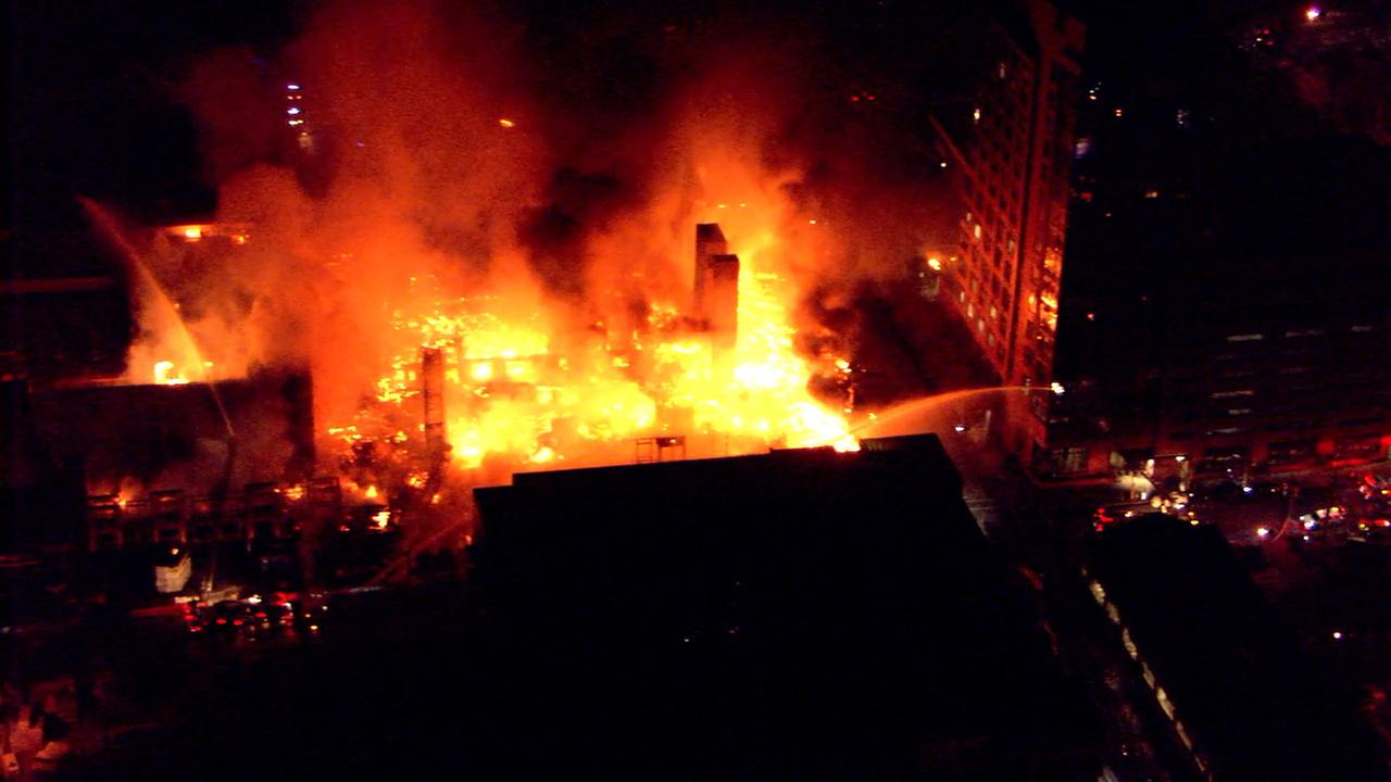 Massive fire in downtown Raleigh.