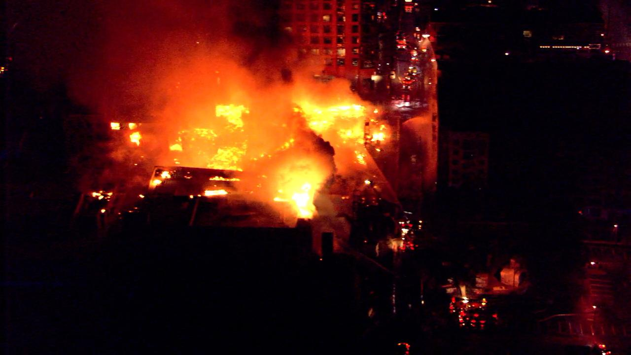 Massive downtown Raleigh fire.