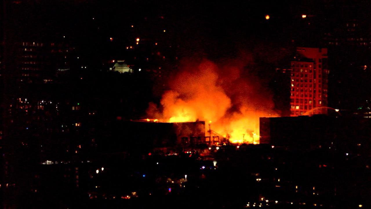 Massive Raleigh fire.Chopper 11 HD