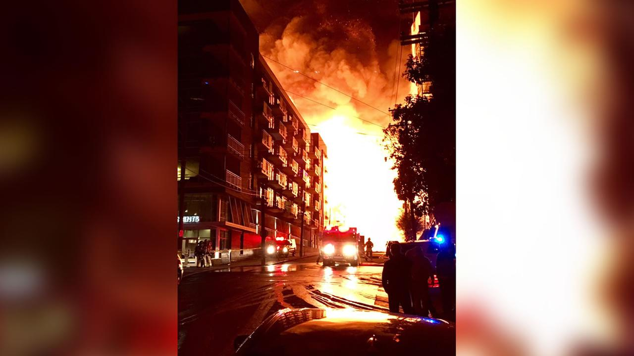 Downtown Raleigh fireCredit: Sean Backus