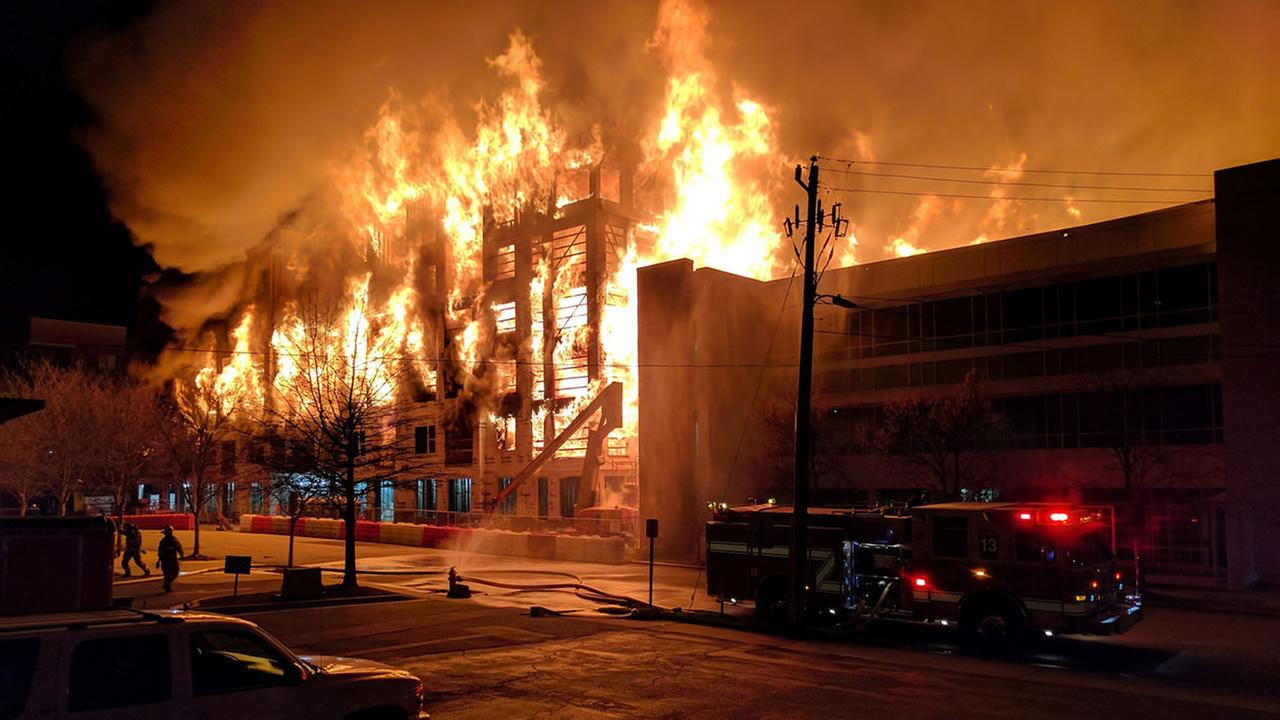 Downtown Raleigh fire (image courtesy Eric Debrah)