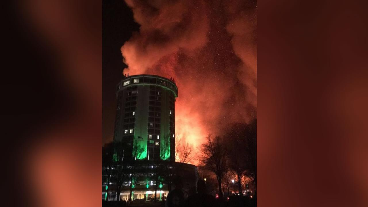 Downtown Raleigh fire (image courtesy DeShannon Davis)