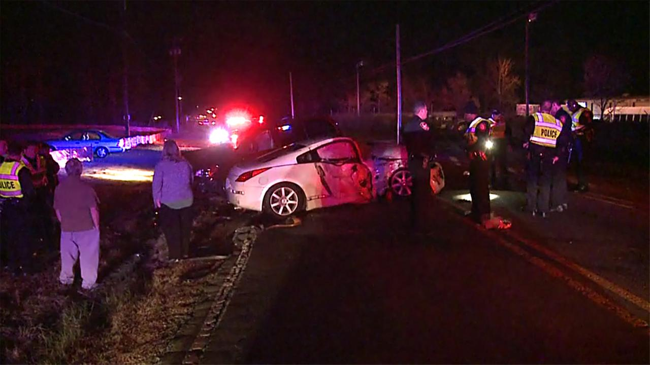 Two people were injured in this serious crash in Durham on Friday night.
