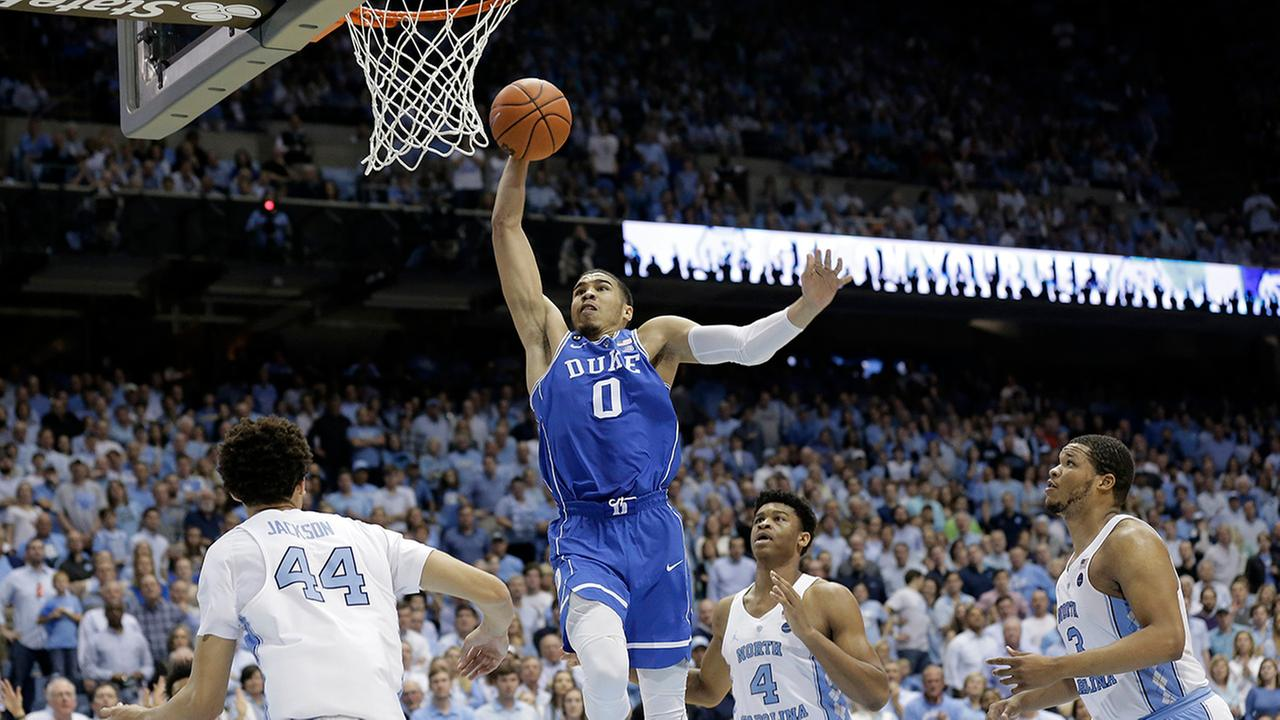 Tar Heel fans will probably be glad to see Jayson Tatum leaving Duke. Tatum averaged 18.7 points and seven rebounds per game in three meetings with UNC in his one season at Duke.