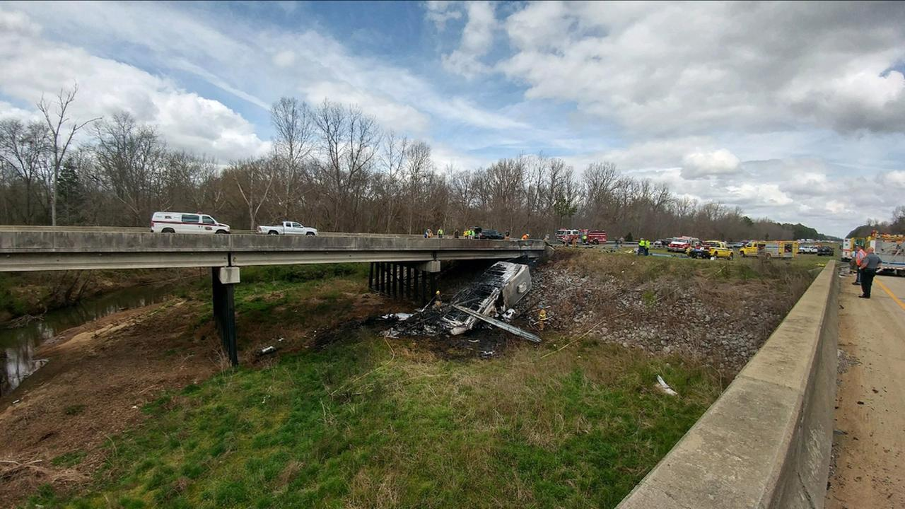 Father, son dead after RV crashes on I-77