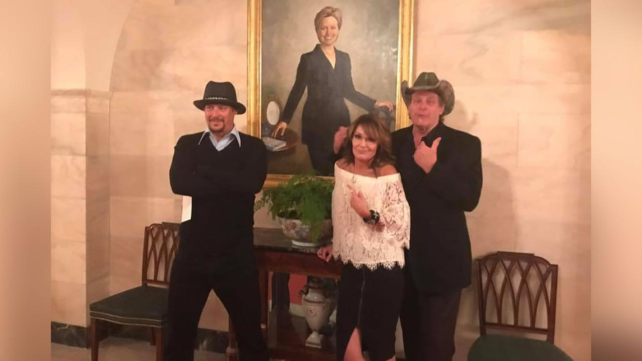 Image result for palin nugent white house