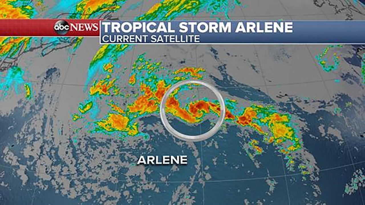 1st tropical depression of season forms far from land