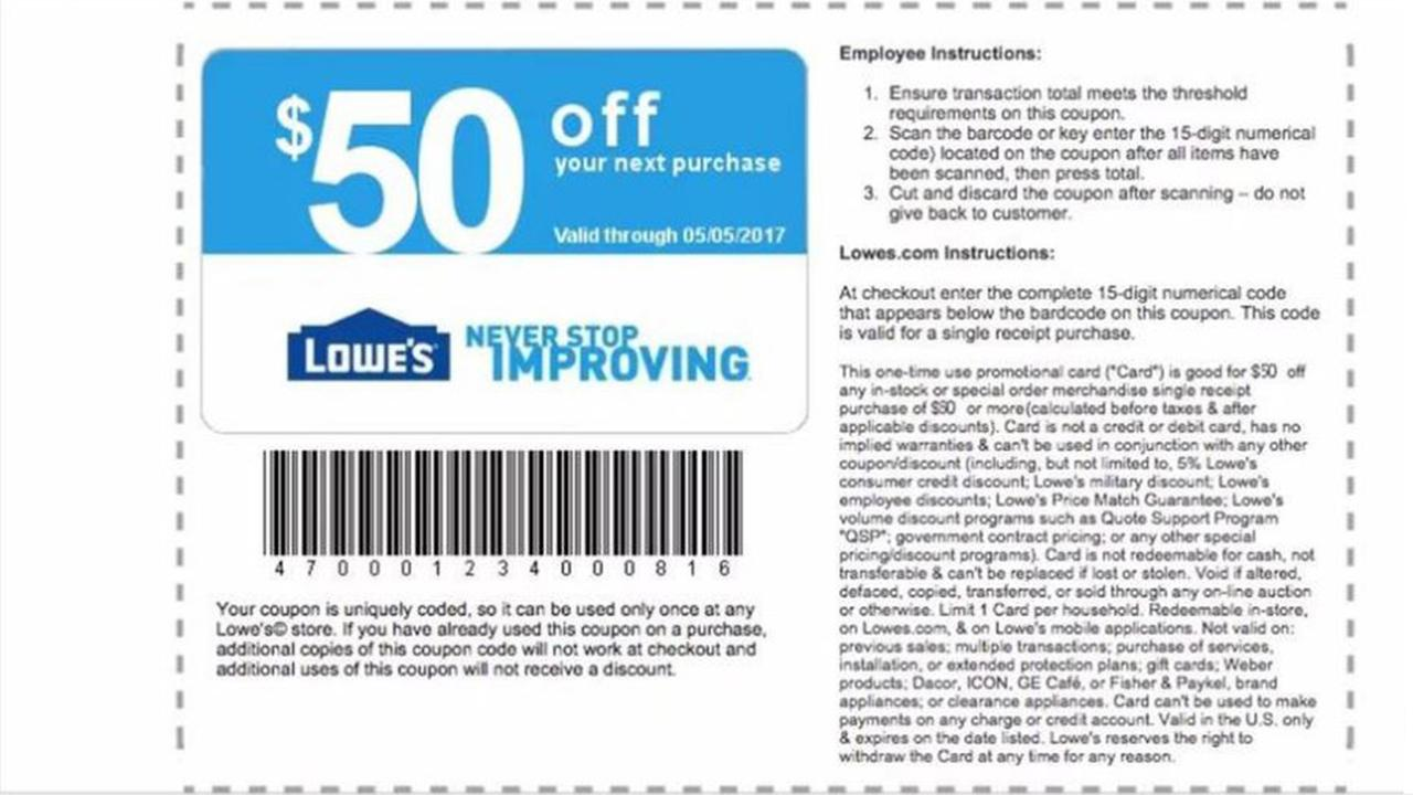 Lowes scam targets Facebook users