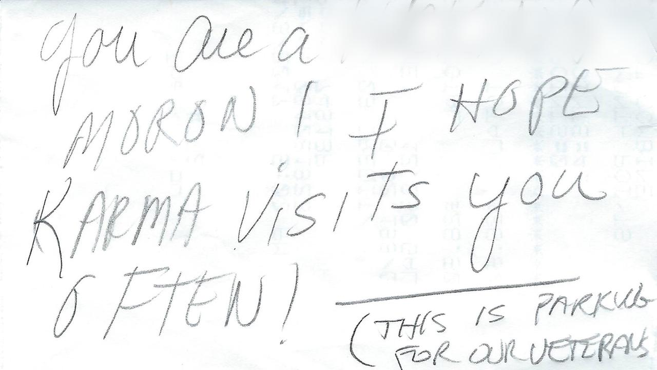 Durham veteran finds hateful note on car, thanks writer