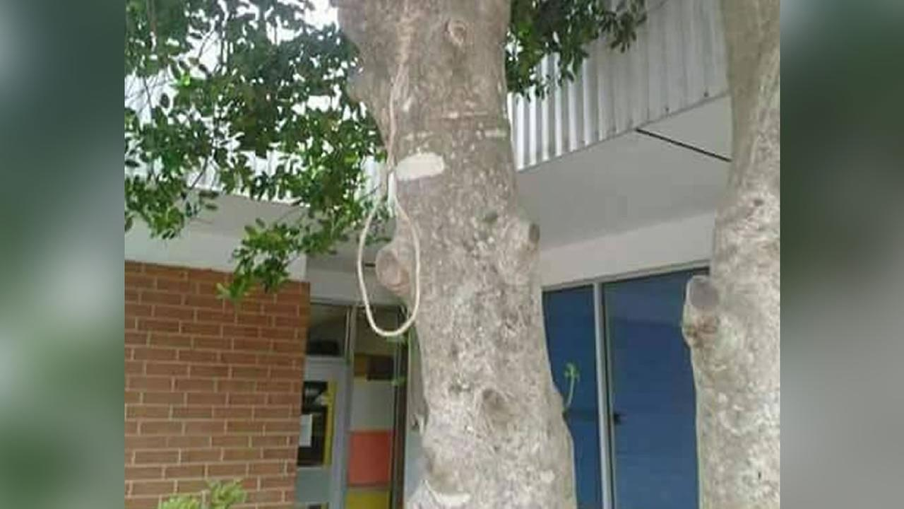 The noose was found hanging outside Union Pines High School in Cameron