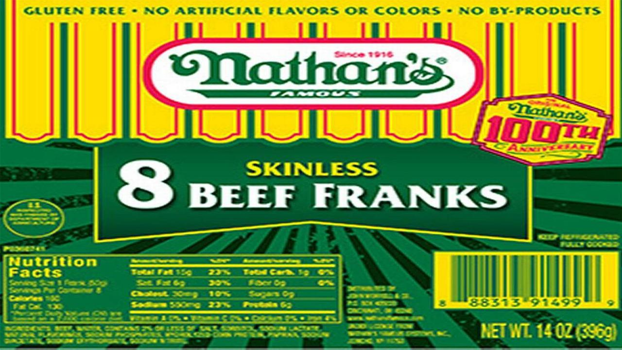 Nathans, Curtis hot dogs recalled after metal objects found inside
