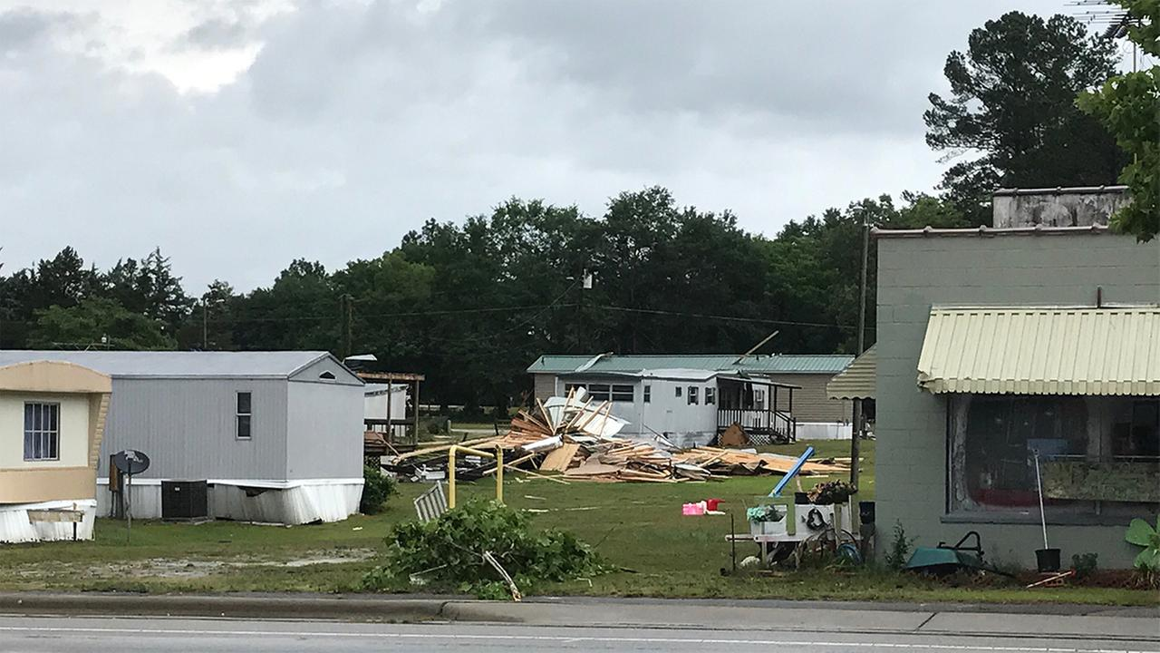 Tornado damage reported in AutryvilleJenny Hartley - ABC11 Eyewitness
