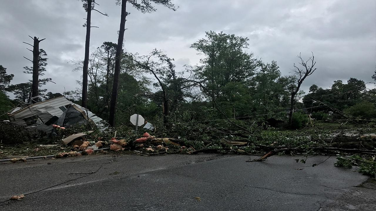 Tornado damage reported in Autryville