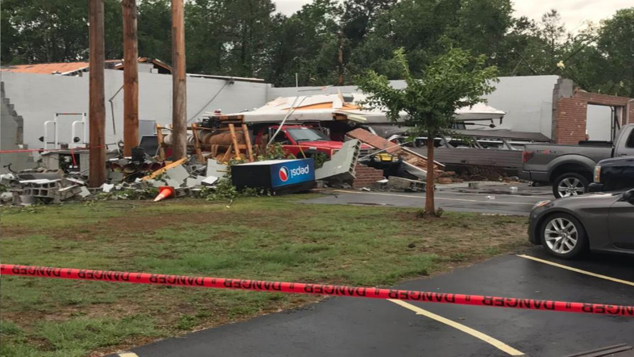 All but one fire truck damaged when tornado collapsed Autryville Fire Departments roof