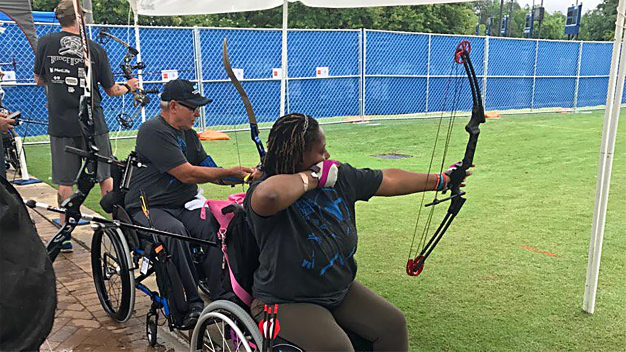 Archery is one of the events at the Valor Games Southeast.