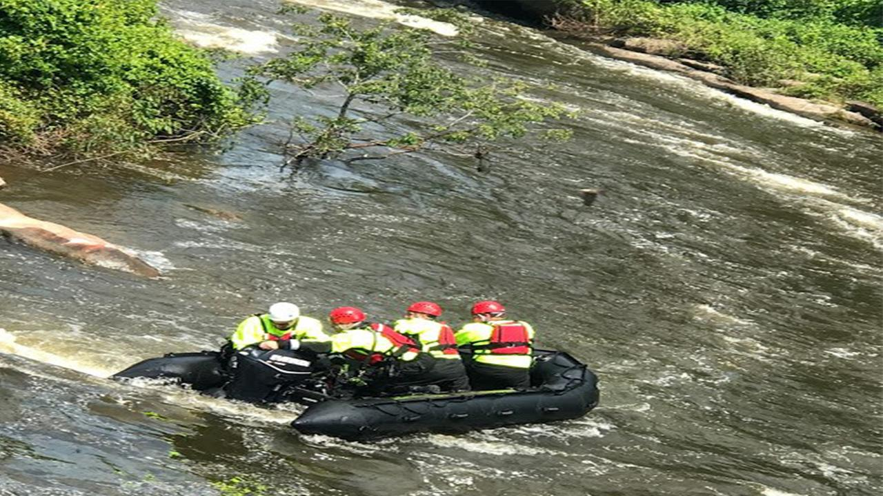 According to the Wake Forest Fire Department, a couple was by a dam when the womans kayak got caught in some branches and tipped over.