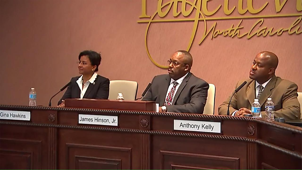 The public got to see and hear the three finalists. Fayetteville police chief candidates