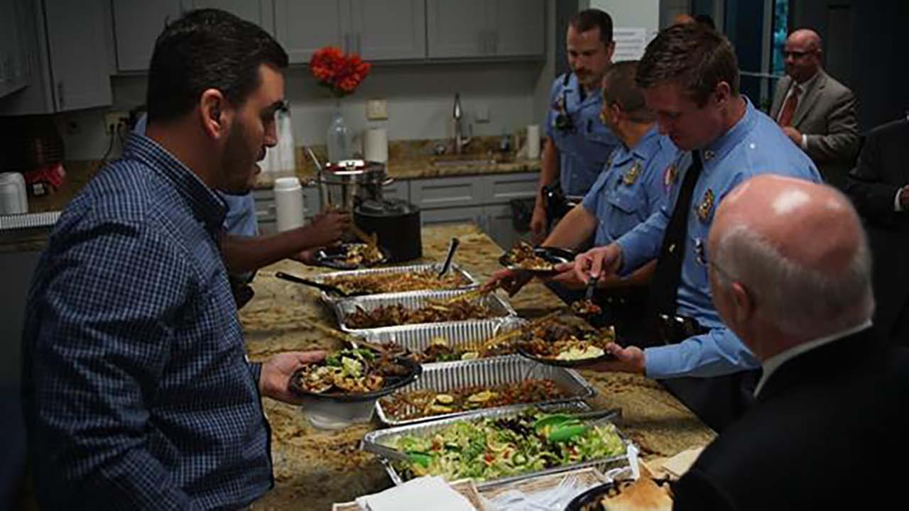 The Islamic Association of Raleigh hosted law enforcement officers from across the state on Thursday for an Iftar, an after-sunset meal that breaks Ramadan fasting.