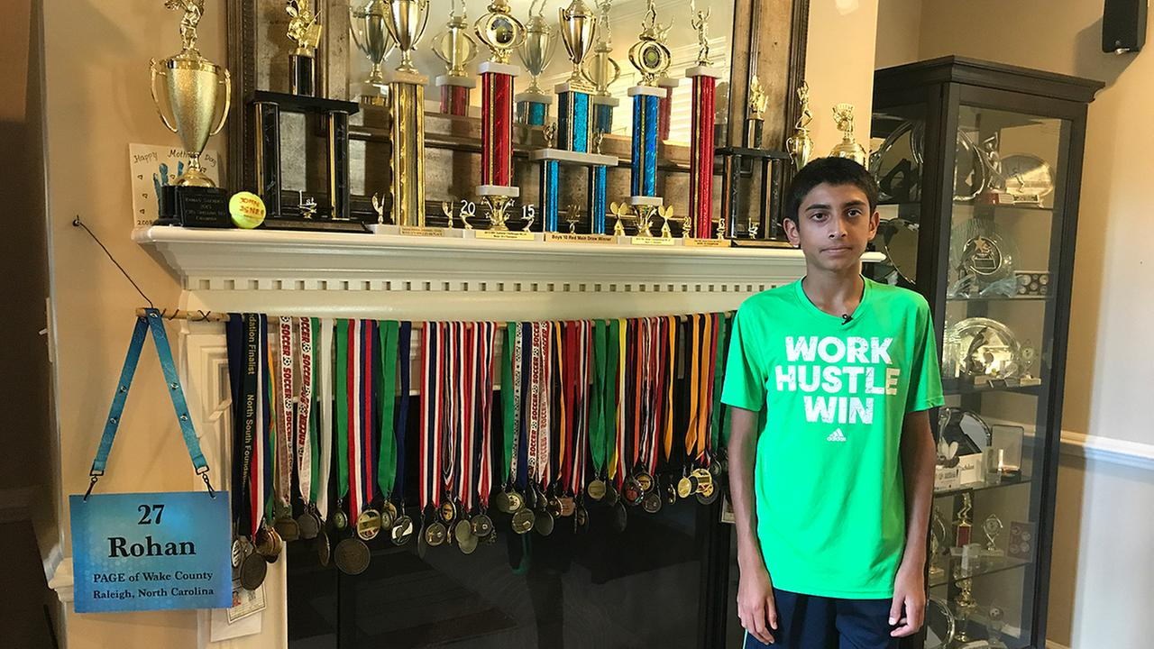 Rohan Sachdev is North Carolinas top speller, and also its No. 1 ranked tennis player in his division.