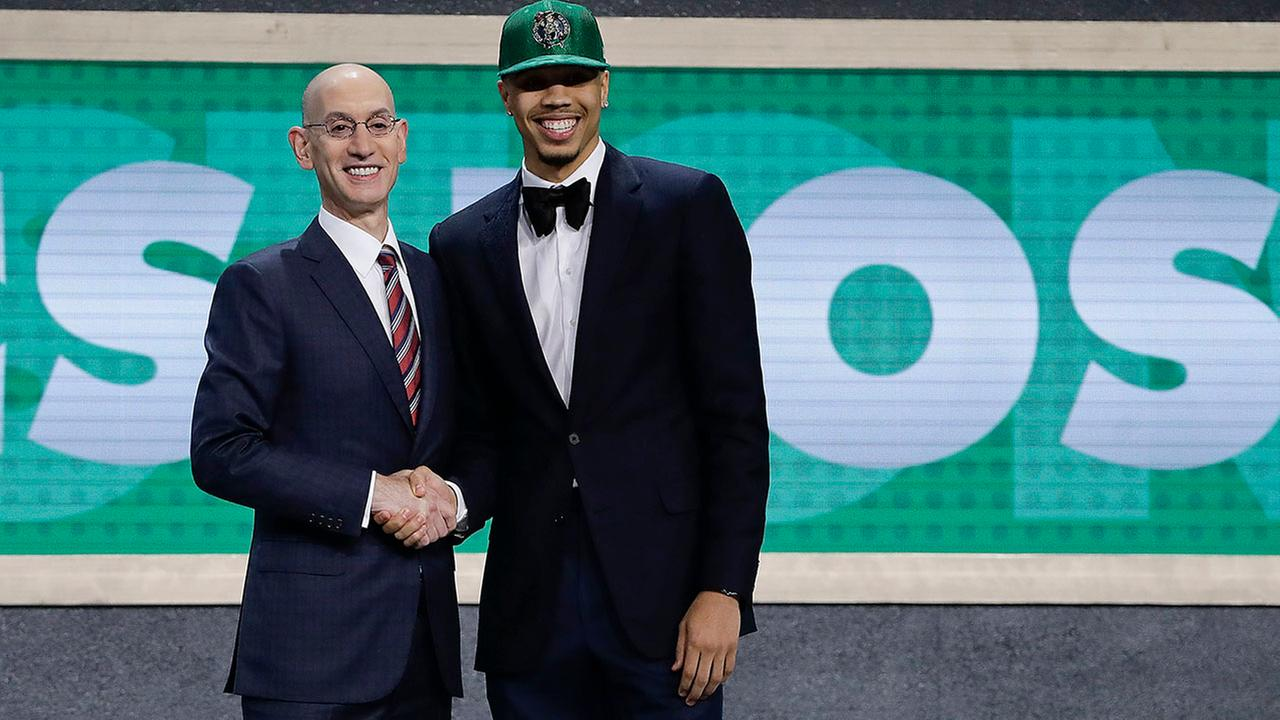 Jayson Tatum went third overall to the Celtics.