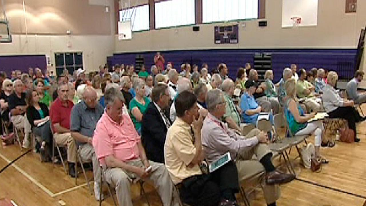 Angier fracking public hearing