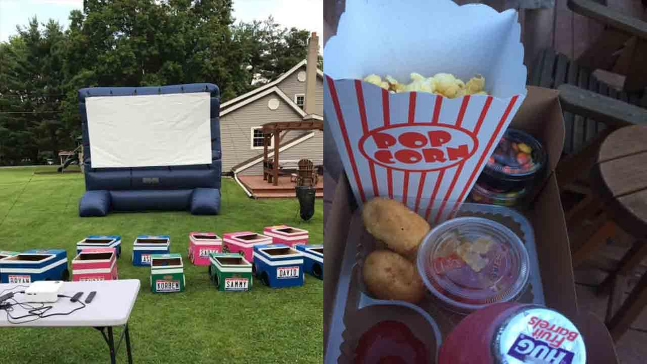 Ohio aunt creates drive-in movie theater for family