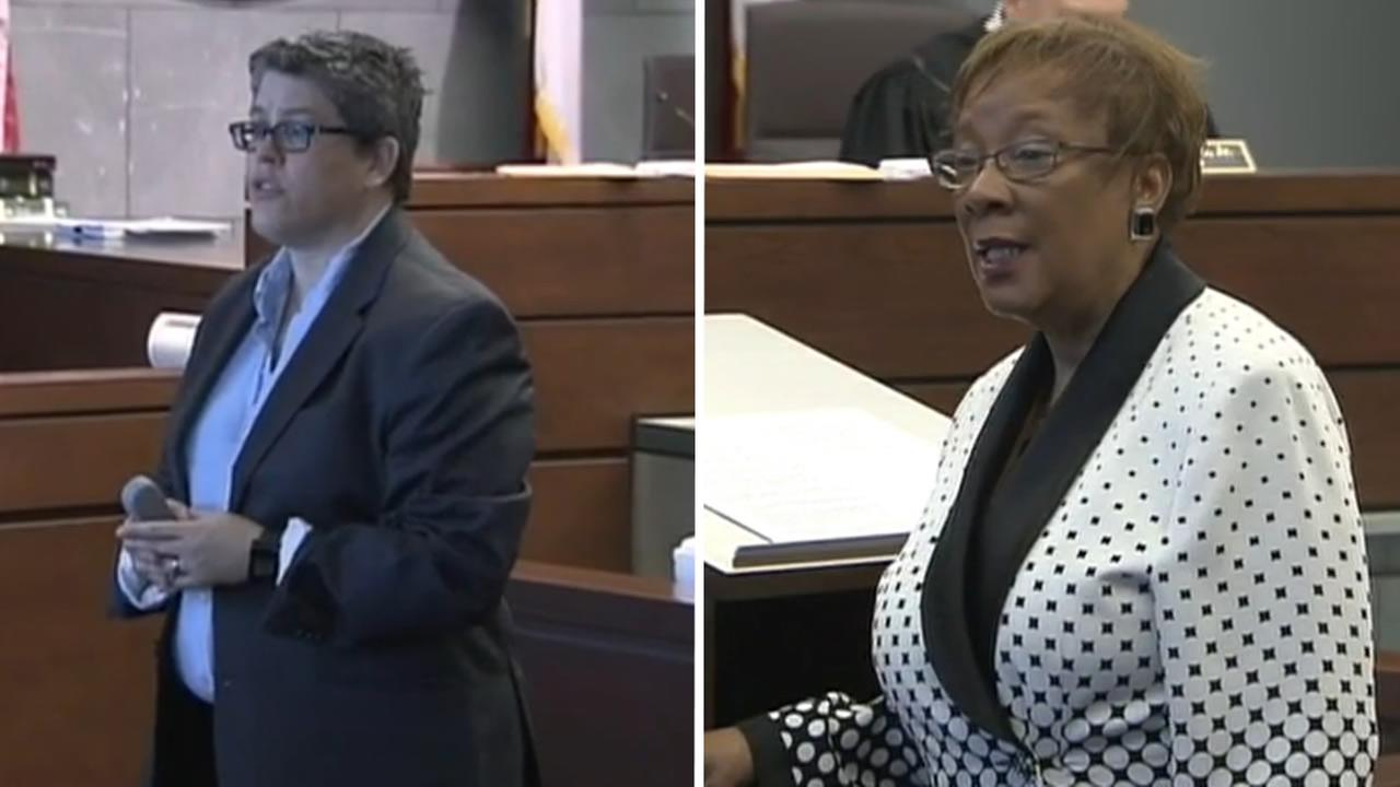 Prosecutor Stormy Ellis and defense attorney Karen Bethea-Shields