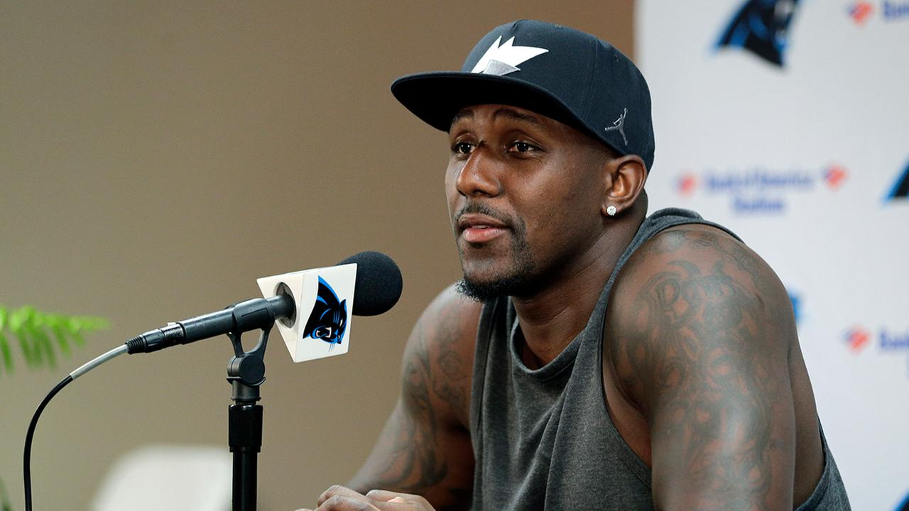 Thomas Davis speaks Wednesday at training camp.