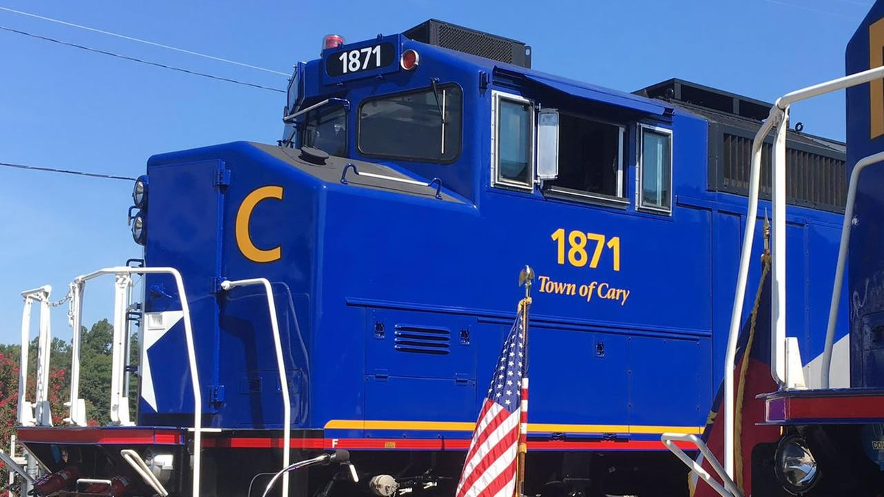 The Town of Cary locomotive (image courtesy Town of Cary)