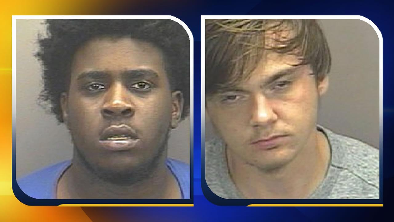 Zxavier Gibson and Caleb Riley (images courtesy Carrboro Police Department)
