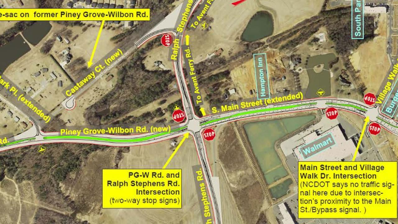 The problem intersection (image courtesy Holly Springs)